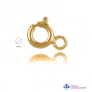 Pcomponent - Spring rings 6mm -    - Precious Components - Gold findings