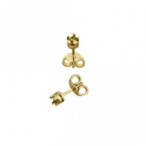 9K Yellow Gold Earring 5 mm with butterfly   Wholesale