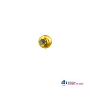 18K Gold 1 Hole Beads | Wholesale Jewelry Findings | Precious Components